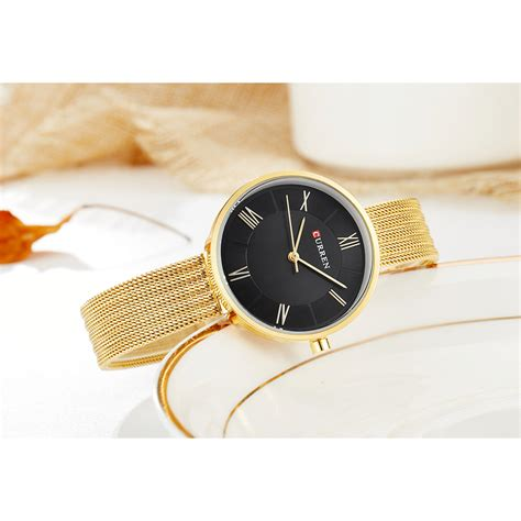Curren Jam Tangan curren jam tangan analog wanita 9020 gold
