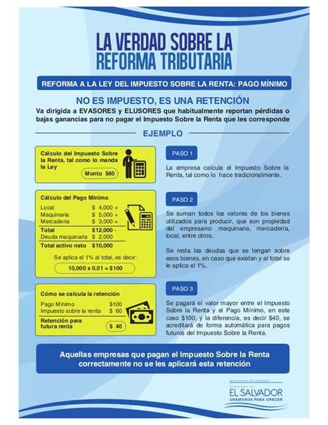 reforma tributaria textos comparados ley sobre impuesto de noticia de gobierno la verdad sobre la reforma tributaria