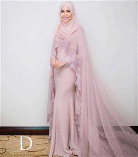 Inspirasi Rona Kebaya Pengantin Soft Cover pink bubblegum princess gambar dally dan nazim othman l bagai pinang dibelah dua