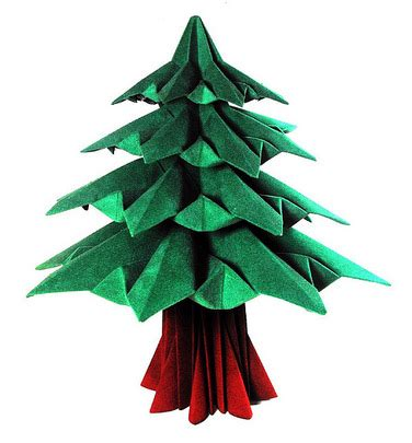 Origami Fir Tree - abeto fir tree hojyo mahoraga origami free