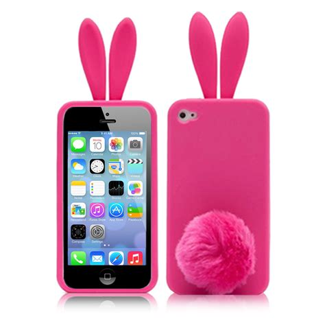 Soft Hp Iphone Tipe 5g Boneka bunny rabbit soft cover skin for iphone 5 5g