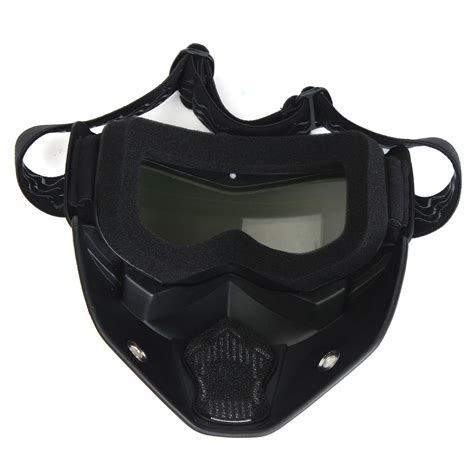 Masker Goggle motorcycle helmet mask shield goggles detachable