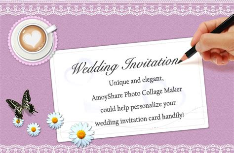 how to make a wedding invitation card how to create wedding invitation card amoyshare photo