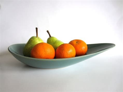 Modern Fruit Bowl | denby manor green fruit bowl mid century modern teal english