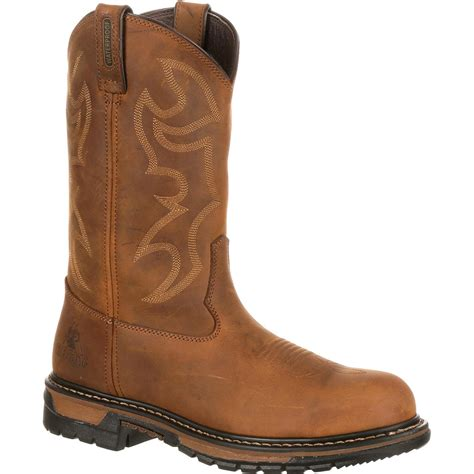 rocky shoes s waterproof steel toe western boot rocky original ride