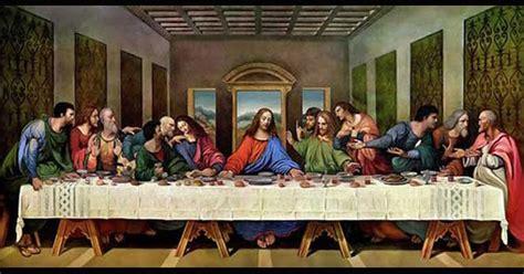 kesain kutanta perjamuan terakhir karya leonardo da