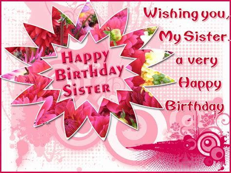 Happy Birthday Card Messages Happy Birthday Sister Greeting Cards Hd Wishes Wallpapers
