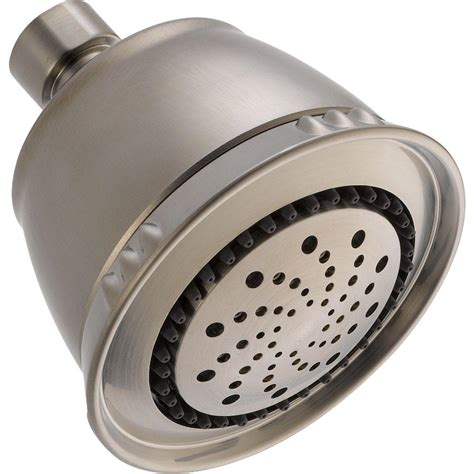 Shower Heads Home Depot by Delta 7 Spray 3 38 In Fixed Shower In Satin Nickel