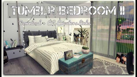 sims  tumblr bedroom ii  cc creators links youtube