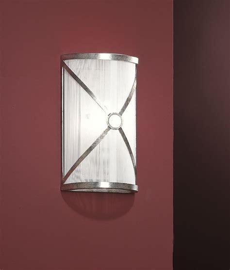 Silver Wall Lights Silver Thread Shade Aged Silver Wall Light