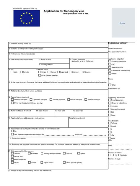 schengen visa application form denmark iceland travel
