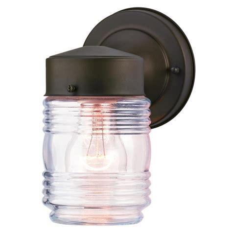 design house jelly jar light westinghouse oil rubbed bronze 1 light outdoor jelly jar