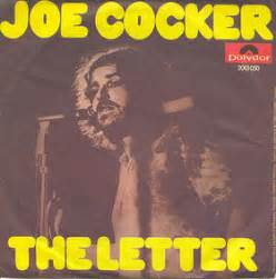 the letter joe cocker 1970 seventies