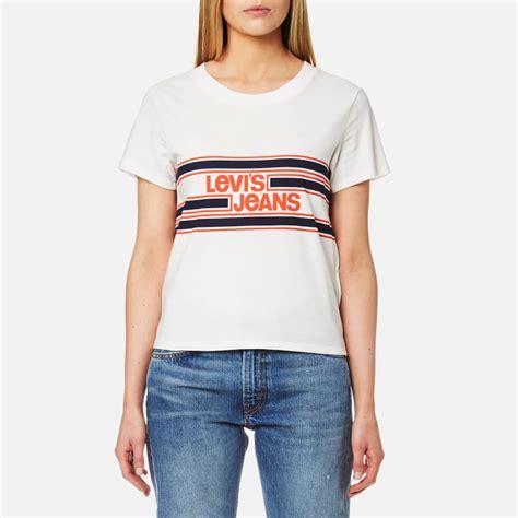 Tshirt Anak Levis Oranye levi s s orange tab graphic surf t shirt marshmallow womens clothing thehut