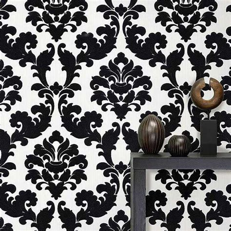 Black Damask Wallpaper Home Decor by Popular Black Floral Wallpaper Buy Cheap Black Floral