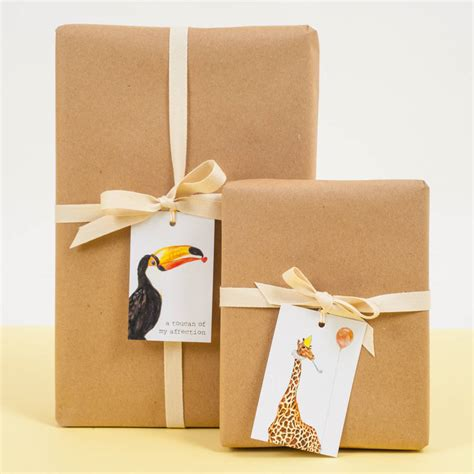 Peebles Gift Card - toucan of my affection gift tags by mister peebles