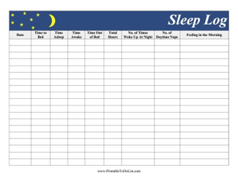 sleep diary template sleep log pictures to pin on pinsdaddy