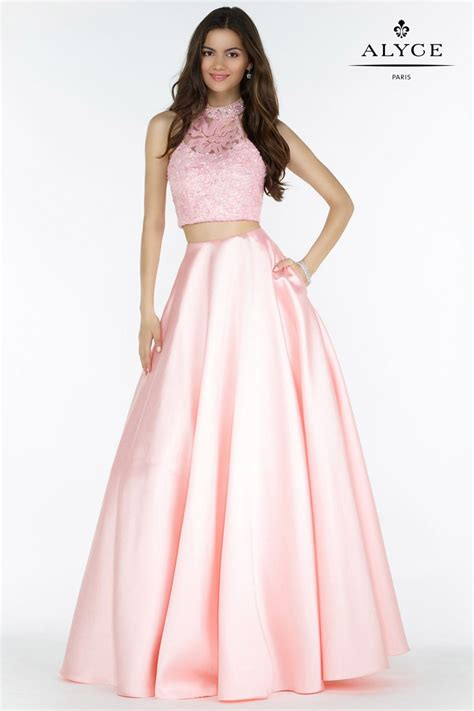 alyce prom 2016 dresses newyorkdress alyce paris 6785 sequin lace 2 piece prom dress french