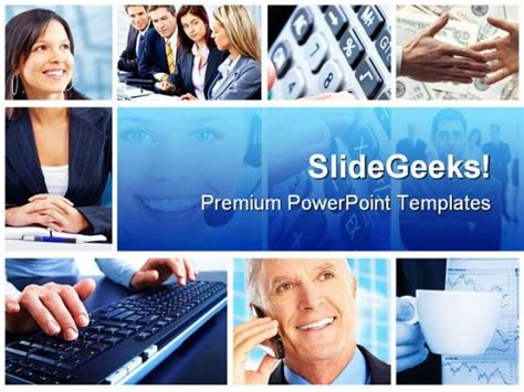 Business Collage People Powerpoint Template 0910 Powerpoint Photo Collage Template