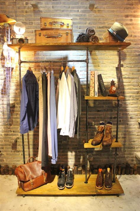 Clothing Store Racks And Shelves American Wood To Do The Vintage Clothing Store Display