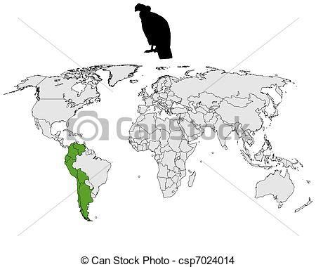 andean condor distribution royalty free eps vector of andean condor distribution csp7024014