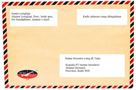 Contoh Kop Surat Lamaran by Tips Dan Contoh Menulis Lop Surat Lamaran Kerja Yang