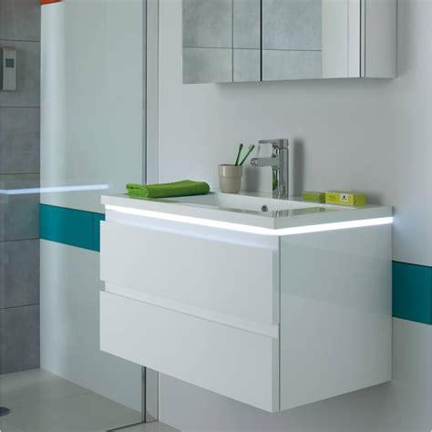 Merveilleux Meuble Salle De Bain Blanc Laque #1: meuble-vasque-salle-de-bain-laque-blanc-halo.jpg
