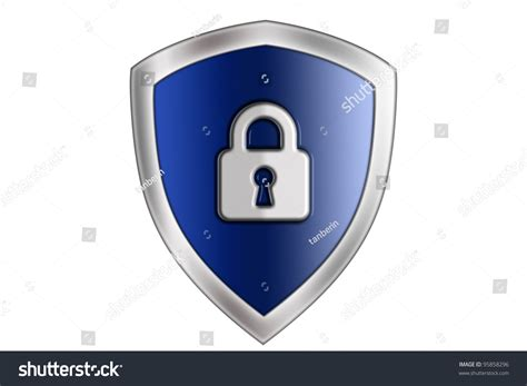 Shields Lock In by Blue Shield Lock Stock Photo 95858296