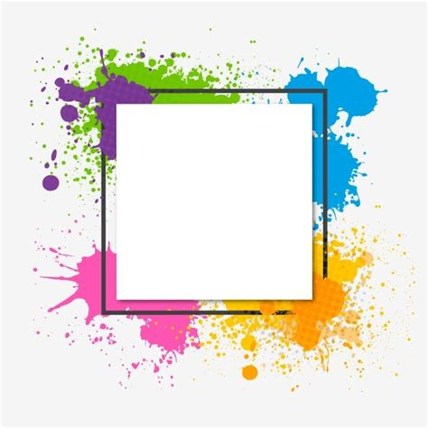 watercolor abstract colorful trendy frame watercolor