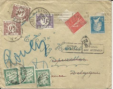 Porto Schweiz Frankreich Brief Frankreich 1925 Retour Brief V Rouen M Belgien U Frankr Porto Marken 2327 183 Heiner Zinoni