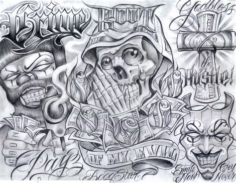 gangsta boog tattoo design real photo pictures images