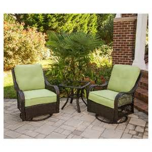Chat Set Patio Furniture by Orleans 3 Piece Wicker Patio Chat Furniture Set Target