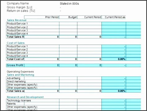 7 profit and loss statement template sletemplatess