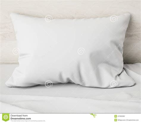 bett hintergrund white pillow on the bed background stock illustration
