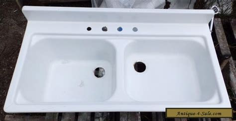 Kitchen Sinks For Sale by Vintage Steel White Porcelain Basin Shallow
