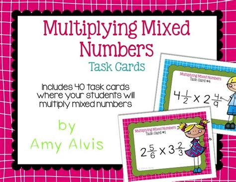 multiplying fractions using cards template multiplying mixed numbers fractions task cards scoot