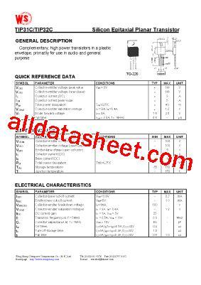 transistor tip31c datasheet tip31c datasheet pdf wing shing computer components