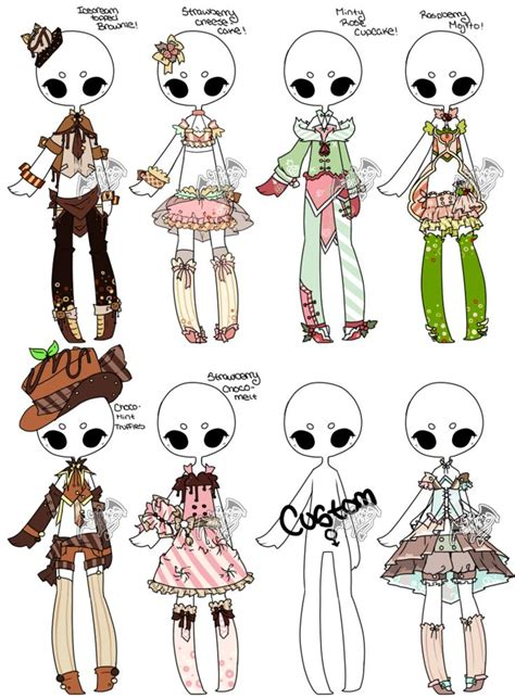 Adoptable Offer Outfit Batch 05 5 8 By Deviladopts How To Draw Chibi Boy Clothes Free