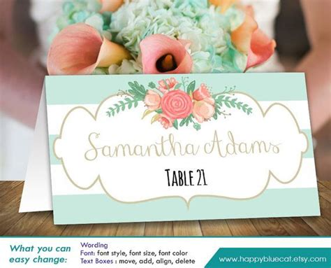 free diy place card template 25 best ideas about place card template on