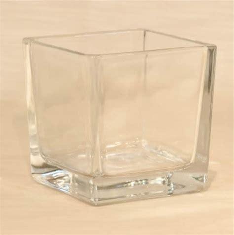 vasi vetro quadrati noleggio vaso in vetro quadrato 8x8h8 cm