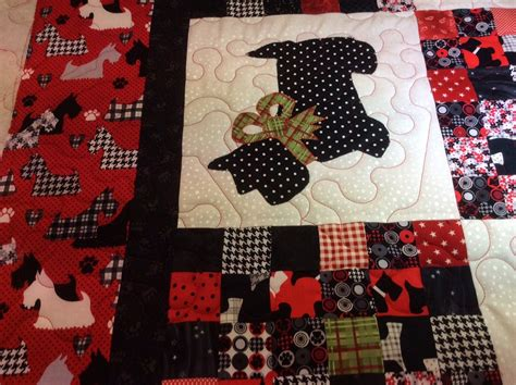 Scottish Quilt Patterns by Koolkat S Quilting Lou S Scottish Terrier Quilt