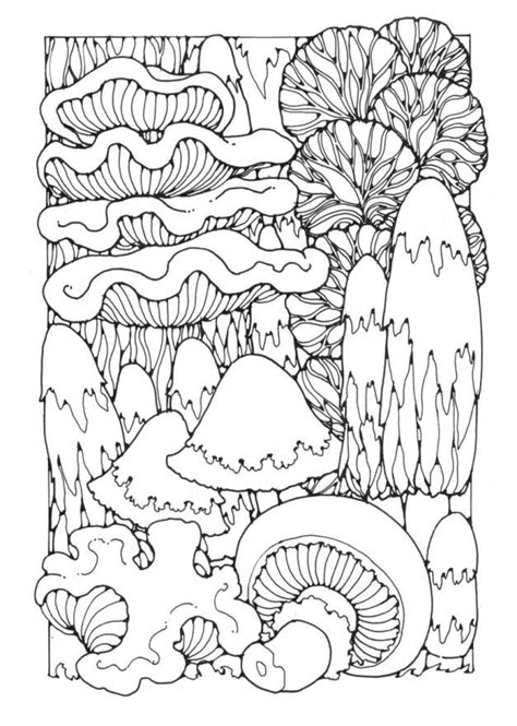 free coloring pages of mushroom