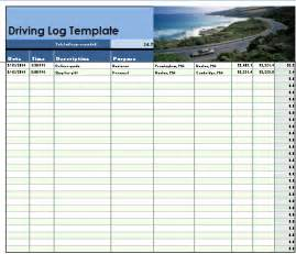 Drive Templates by Driver Log Template Microsoft Office Templates