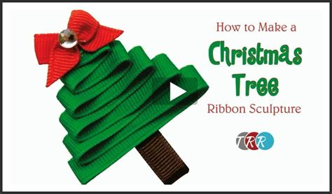 how to make christmas ribbon sculpture how to make a tree ribbon sculpture thursday the ribbon retreat