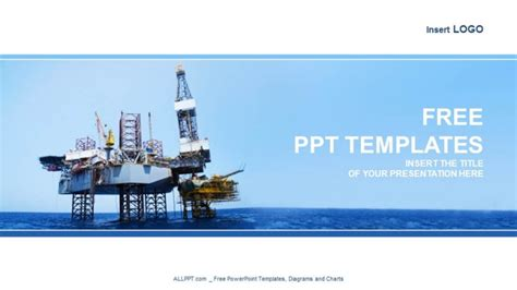 powerpoint templates free oil offshore jack up rig industry powerpoint templates