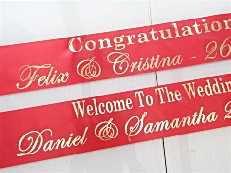 Wedding Banners Personalised by Personalised Wedding Banner Gold