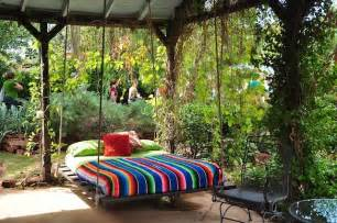 outdoor bedroom 39 relaxing outdoor hanging beds for your home digsdigs