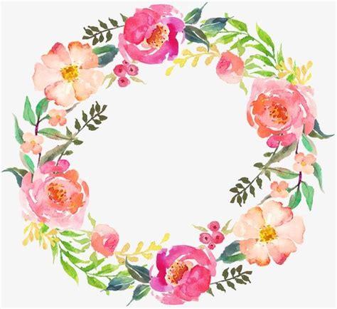 imagenes de flores juanitas dibujo circular corona 05 acuarela corona ronda imagen