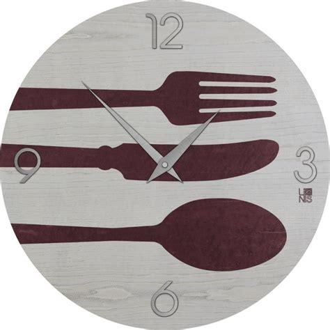 orologio da cucina orologio da parete per cucina moderno in legno cutlery colors