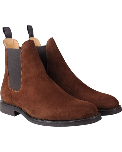 light suede chelsea boots morris rothley chelsea boot light brown suede hos